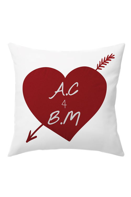 Personalised Heart And Arrow Cushion Cover