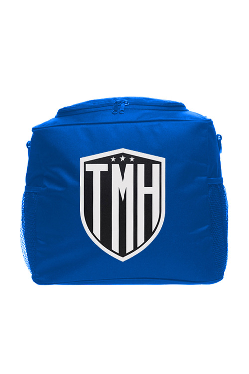 Personalised Cooler Bag - Blue - Monogram Shield With Initials