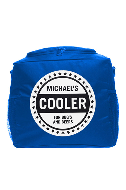 Personalised Cooler Bag - Blue - Stars