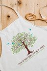 Personalised Family Tree Apron