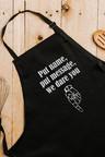 Personalised Personalised Custom Message Black Apron
