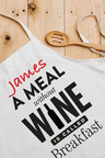 Personalised Meal Without Wine Apron