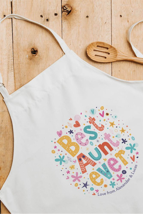 Personalised Best Aunt Ever Apron