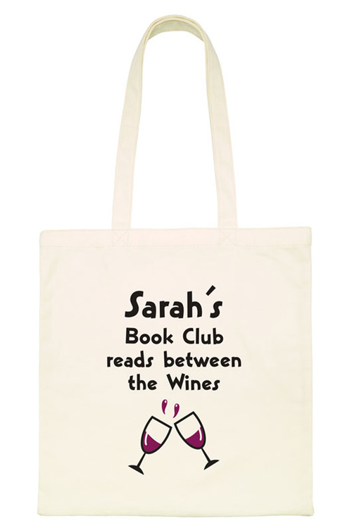 Personalised Book Club Tote Bag