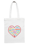 Personalised Our Heart Tote Bag