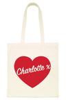 Personalised Heart Tote Bag