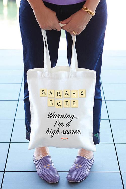Personalised Scrabble Tote Bag