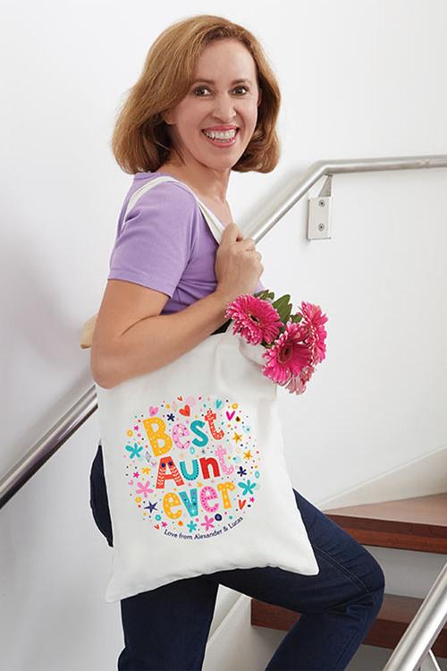 Personalised Best Aunt Tote Bag