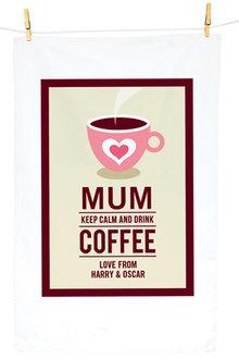 Personalised Coffee Tea Towel - 283813