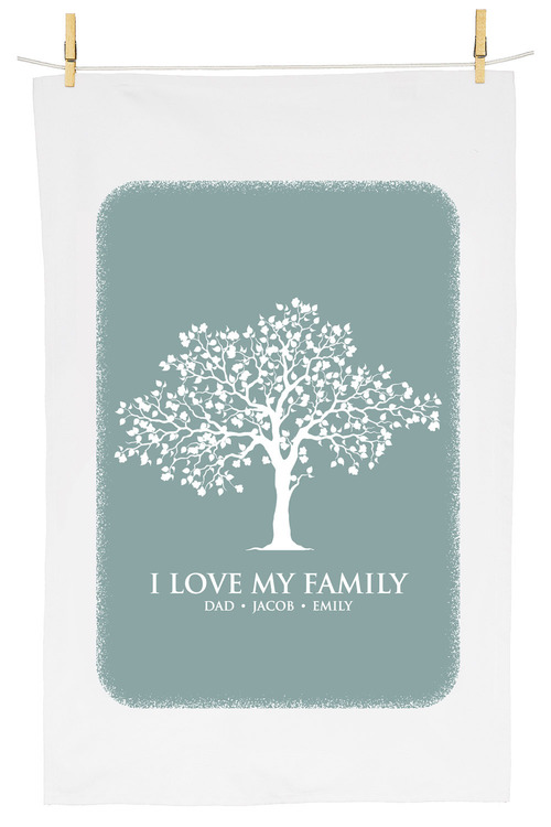 Personalised Family Tree Tea Towel