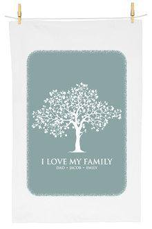 Personalised Family Tree Tea Towel - 283815