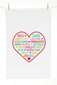 Personalised Our Heart Tea Towel - 283818