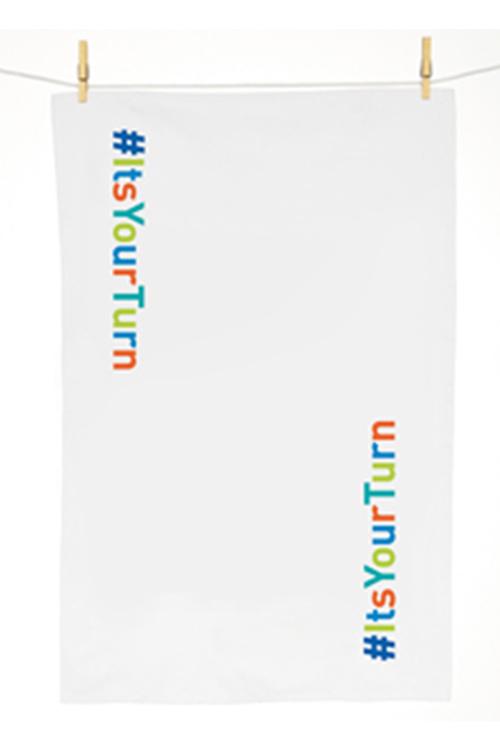 Personalised Hashtag Tea Towel