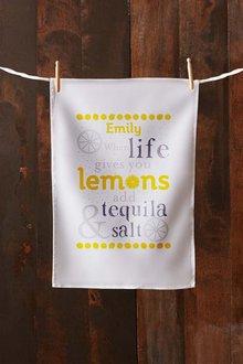 Personalised Lemons Tea Towel - 283820