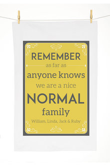 Personalised Normal Family Tea Towel - 283821