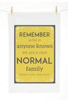 Personalised Normal Family Tea Towel
