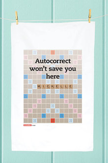 Personalised Scrabble Auto Correct Tea Towel - 283824