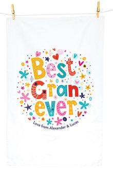 Personalised Best Gran Ever Tea Towel - 283830