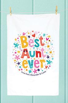 Personalised Best Aunt Ever Tea Towel - 283831