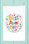 Personalised Best Aunt Ever Tea Towel
