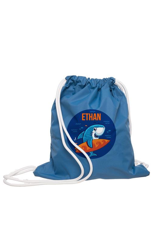 Personalised Wet Bag Navy Shark