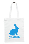Personalised Blue Easter Bunny Tote