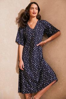 Emerge Flutter Sleeve Midi Dress - 283916