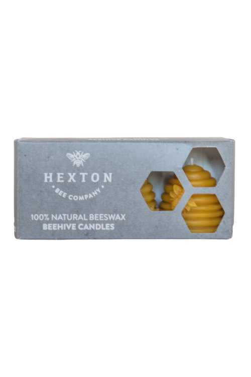 Hexton 100% Beeswax Beehive Candle Set of Three