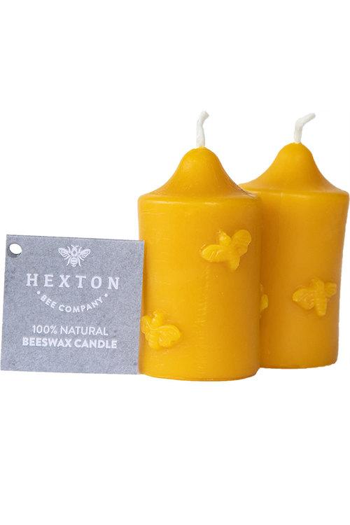 Hexton 100% Beeswax Round Bee Votive Set of Two