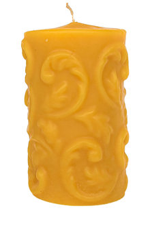 Hexton 100% Beeswax Solid Pillar Fern Candle - 284055