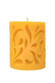 Hexton 100% Beeswax Solid Pillar Swirl Candle - 284056