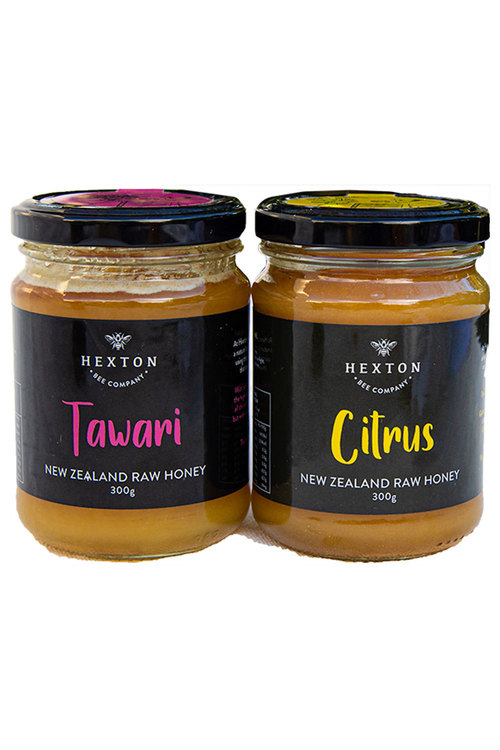Hexton Cirus and Tawari New Zealand Raw Honey Set of Two