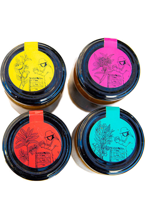 Hexton New Zealand Raw Honey Set of 4
