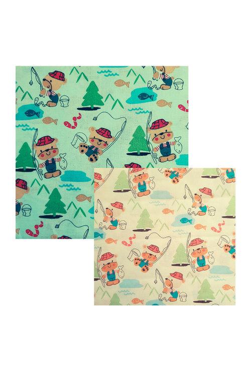 Hexton Beeswax Gone Fishing Kids Food Wrap 2 Pack