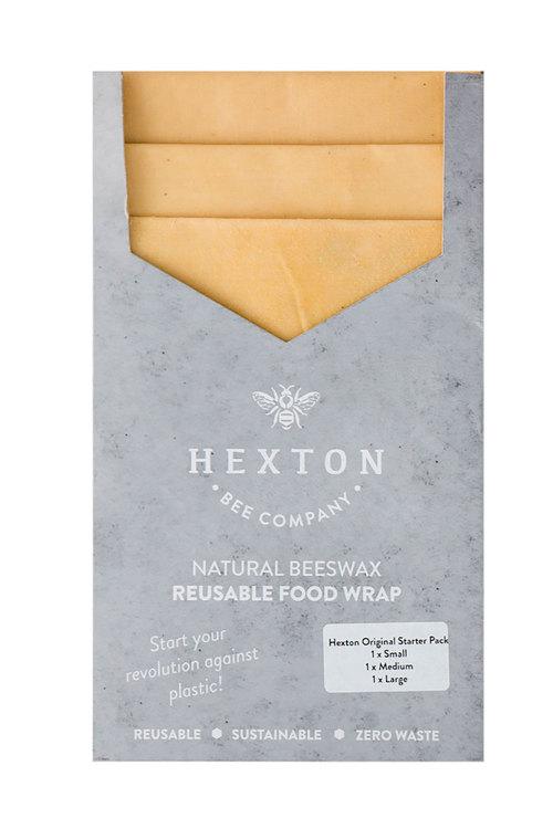 Hexton Beeswax Original Food Wrap Starter Pack