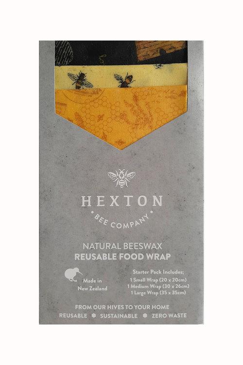 Hexton Beeswax Queen Bee Food Wrap Starter Pack