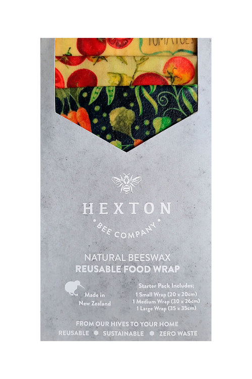 Hexton Beeswax Country Vegetables Food Wrap Starter Pack