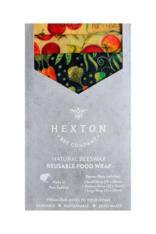 Hexton Beeswax Country Vegetables Food Wrap Starter Pack - 284088