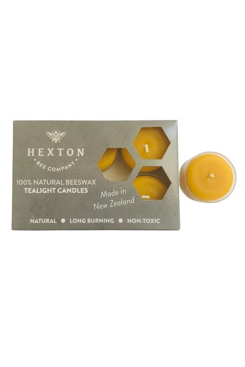 Hexton 100% Beeswax Tealight Candles Set of Six