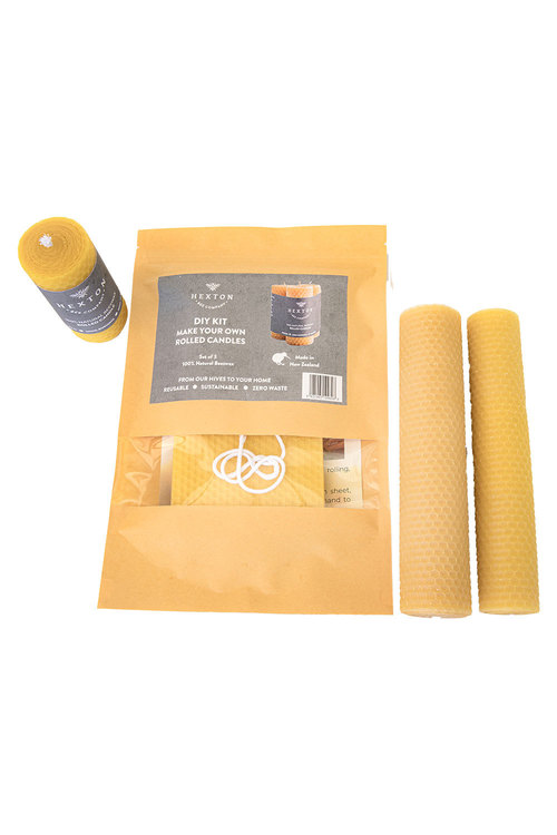 Hexton 100% Beeswax DIY Rolled Candle Kit
