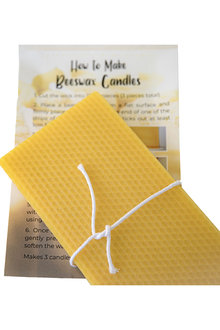 Hexton 100% Beeswax DIY Rolled Candle Kit - 284093