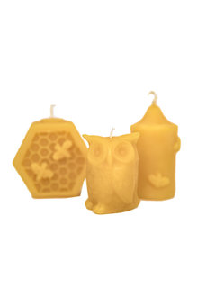 Hexton 100% Beeswax Votive Candles Set of Three - 284112