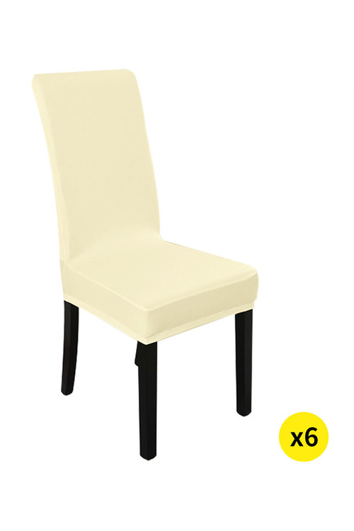 Marlow Elastic Washable Dinning Chair Cover Pack of 6