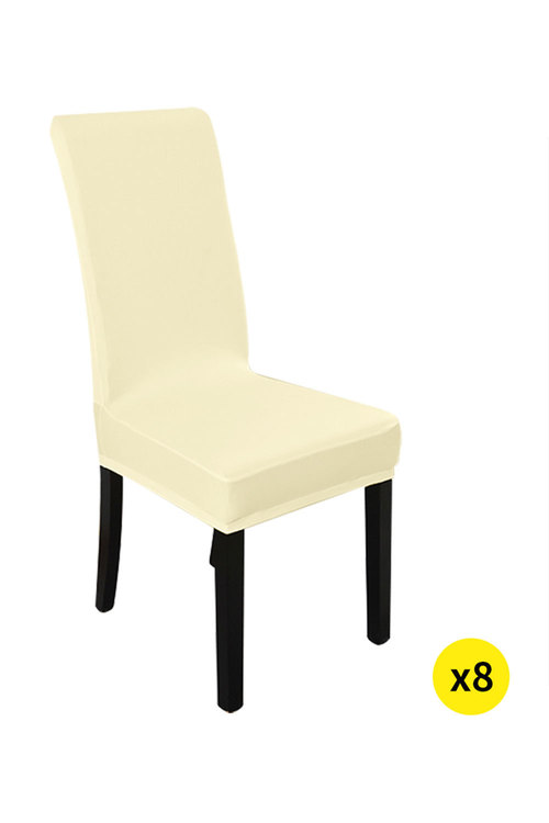 Marlow Elastic Washable Dinning Chair Cover Pack of 8