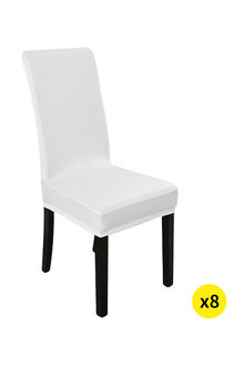 Marlow Elastic Washable Dinning Chair Cover Pack of 8 - 284122
