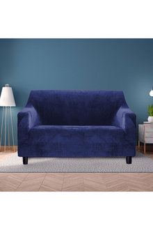 Marlow 2 Seater Plush Stretch Sofa Cover - 284136