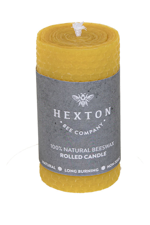 Hexton 100% Beeswax Rolled Candle
