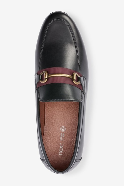 Next Contrast Tape Snaffle Loafers