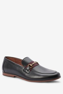 Next Contrast Tape Snaffle Loafers - 284260