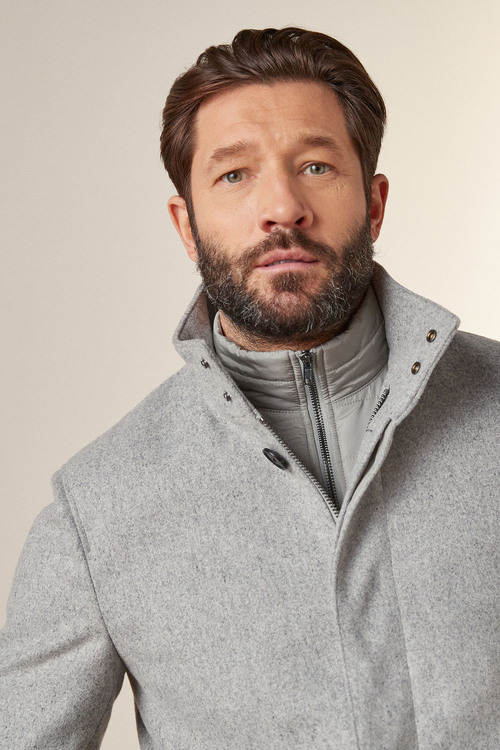 Next Funnel Neck Coat With Removable Gilet